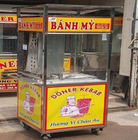 Mua xe bánh mỳ doner kebab thổ nhĩ kỳ chính hãng giá rẻ ở đâu?