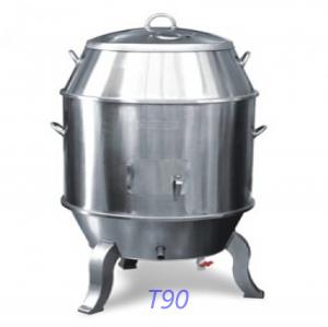 Lò quay vịt bằng than t90 (inox)