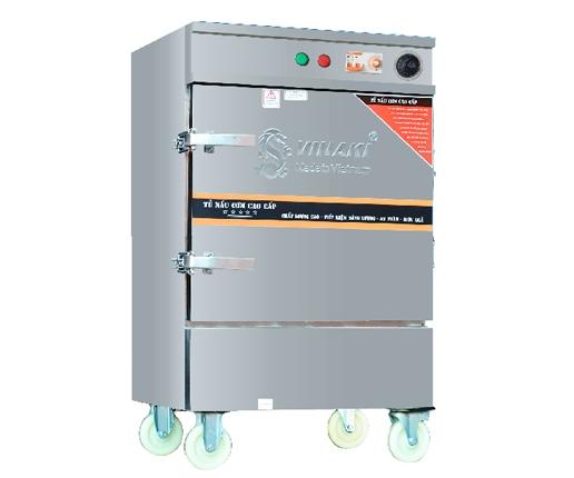 Tủ nấu cơm 10 khay dùng điện, có chế độ hẹn giờ và cài đặt nhiệt