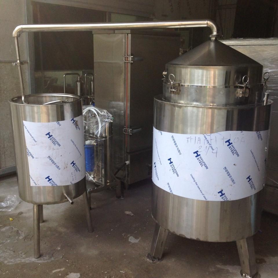 Nồi Nấu Rượu 250 lít ( Nấu 50kg gạo)