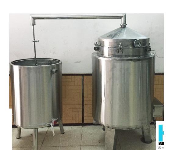Nồi Nấu Rượu Bằng Điện 500 lít ( Nấu 100kg gạo)