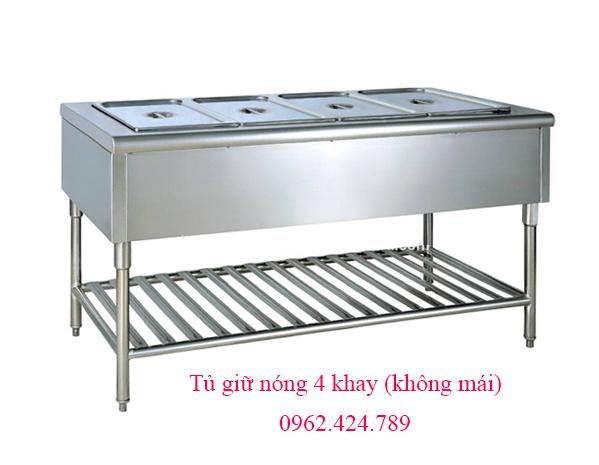 Tủ giữ nóng thức ăn 4 khay (không mái)